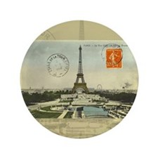"Vintage Paris Eiffel Tower 3.5"" Button (100 pack)"