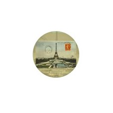 Vintage Paris Eiffel Tower Mini Button (10 pack)