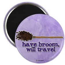 "have broom, will travel 2.25"" Magnet (10 pack)"
