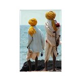 """Saffron Turbans"" Rectangle Magnet (100"