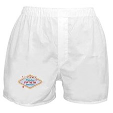 Las Vegas Birthday 50 Boxer Shorts