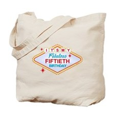 Las Vegas Birthday 50 Tote Bag