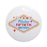 Las Vegas Birthday 50 Ornament (Round)