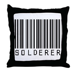 Solderer Barcode Throw Pillow