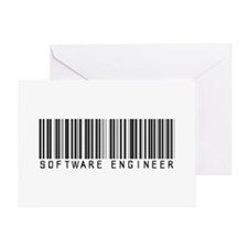 Software Engineer Barcode Greeting Card