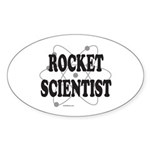 ROCKET SCIENTIST Oval Sticker (10 pk)