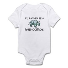 I'd Rather Be A Rhinoceros Infant Bodysuit