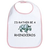 I'd Rather Be A Rhinoceros Bib