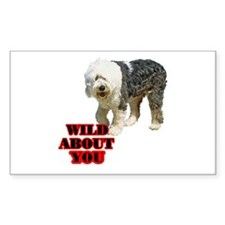 Sheepdog Lover Rectangle Sticker 50 pk)