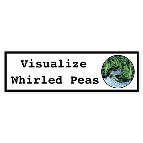 Visualize Whirled Peas Sticker (Bumper 10 pk)