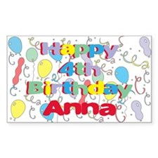 Anna's is four years old and Rectangle Decal