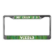 My Kid Vizsla License Plate Frame