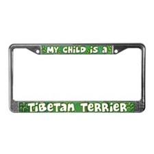 My Kid Tibetan Terrier License Plate Frame