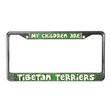 My Children Tibetan Terrier License Plate Frame