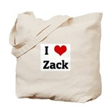 I Love Zack Tote Bag