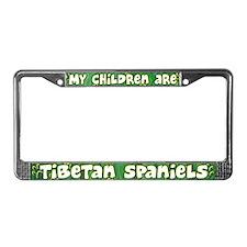 My Children Tibetan Spaniel License Plate Frame