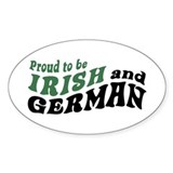 Proud Irish and German Oval  Aufkleber
