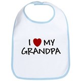I LOVE MY GRANDPA SHIRT BABY Bib