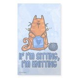if i'm sitting, i'm knitting Rectangle Sticker 50