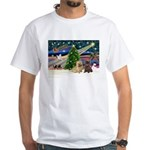 Xmas Magic & 2 Cairns White T-Shirt