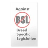 Anti-BSL Rectangle Sticker 50 pk)