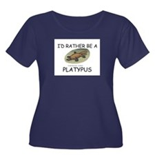 I'd Rather Be A Platypus Women's Plus Size Scoop N
