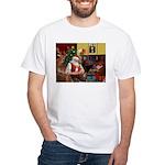 Santa's Chihuahua White T-Shirt
