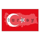 Turkey Flag Extra Rectangle Sticker 10 pk)
