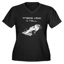 Thats How I Roll car Women's Plus Size V-Neck Dark