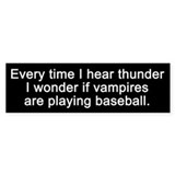 Baseball Vampires Bumper Car Sticker