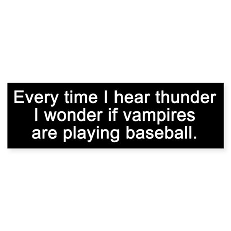 Baseball Vampires Bumper Sticker