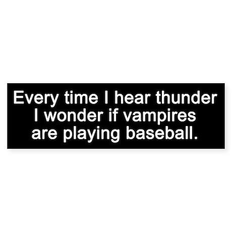 Baseball Vampires Bumper Sticker