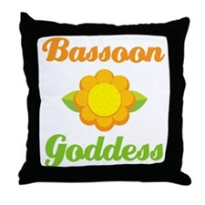 Bassoon Goddess Throw Pillow