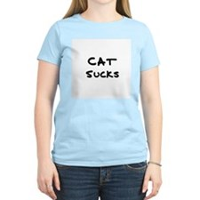 Cat Sucks Women's Pink T-Shirt