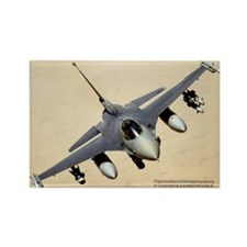 F-16 Fighting Falcon Rectangle Magnet (10 pack)