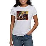 Santa's Dachshund (BT) Women's T-Shirt