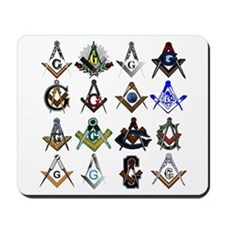 Masonic Square and Compass Mousepad