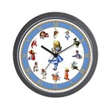 ALL AROUND ALICE Wall Clock