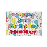 Hunter's 3rd Birthday Rectangle Magnet