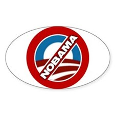 NOBAMA Oval Decal