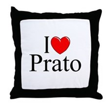"""I Love (Heart) Prato"" Throw Pillow"