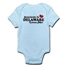 Somebody in Delaware Loves me Infant Bodysuit