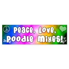 Hippie Poodle Mix Bumper Bumper Sticker