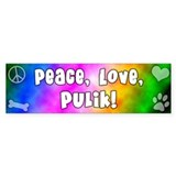 Hippie Puli Bumper Car Sticker