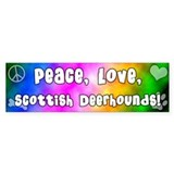 Hippie Scottish Deerhound Bumper Car Sticker