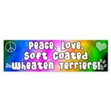 Hippie Soft Coated Wheaten Terrier Bumper Car Sticker