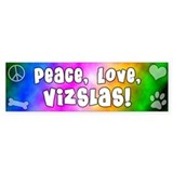 Hippie Vizsla Bumper Bumper Sticker