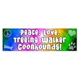 Hippie Treeing Walker Coonhound Bumper Bumper Sticker
