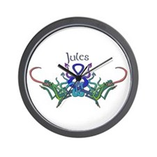 Jules's Celtic Dragons Name Wall Clock