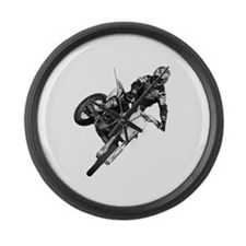 Dirt bike High Flying Large Wall Clock